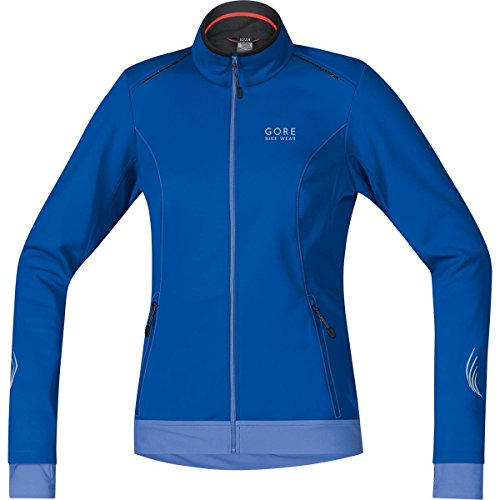 GORE BIKE WEAR Damen Warme Soft Shell Fahrrad-Jacke, GORE WINDSTOPPER, ELEMENT LADY WS SO Jacket, Größe: 36, Blau/Hellblau, JWELEL (Cycling Softshell Tight)
