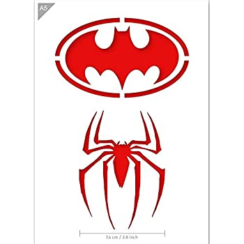 Batman caract/ère masque facial Mylar Airbrush Peinture murale Artisanat dart Pochoir 3 A4 Taille Pochoir - Petit