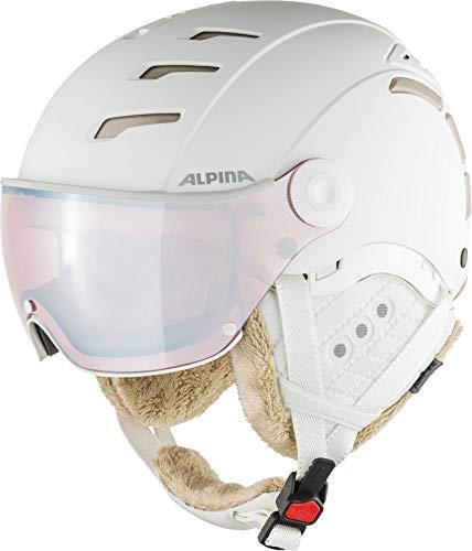 Alpina Unisex- Erwachsene JUMP 2.0 QVM Ski- und Snowboardhelm, white-prosecco matt, 55-58 cm