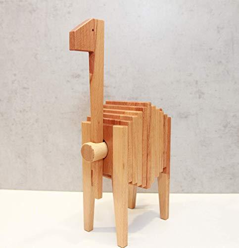 EMMA - Holz Spielzeug Giraffe Steckspielzeug Holzspielzeug Design Accessoires Holzaccessoires Wohnaccessoires Möbelaccessoires Holzdesign