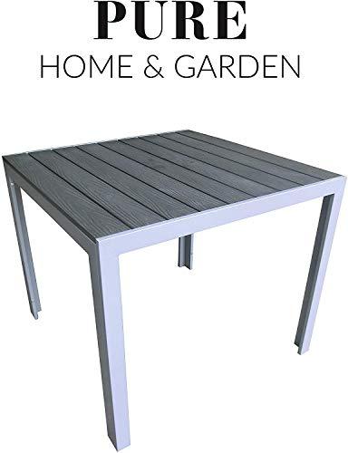 """Aluminium Gartentisch """"Fire"""" mit Polywood"""
