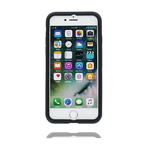 Copertura iPhone 6S Plus, Bumper TPU Gel protettivo in gomma morbida Case Cover Copertura per iPhone 6 Plus/6s Plus 5.5 , Cartoon Cat Nero gatto Nero 2