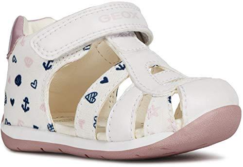 Geox Baby Mädchen B Each Girl C Sandalen, Weiß (White/Pink C0406), 20 EU