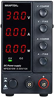 DC Power Supply, Andoer NPS3010W 0-10A Switching 3 Digits Display LED High Precision Adjustable Mini Power Sup