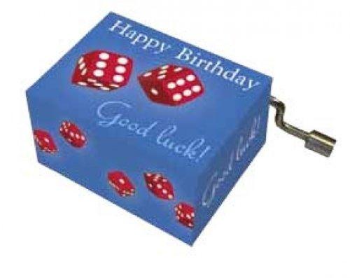 Fridolin-58420-Scatola a musica-Orso con fiore-Buon Compleanno,