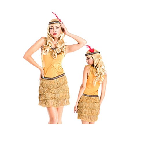 Indian Kostüm Sexy Damen - GGTBOUTIQUE Top Totty Ladies Sexy Indian Costume for Halloween Party (Medium)