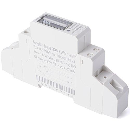 XCSOURCE® Medidor Energía CA 230V 5(30)A (SO) Contador Guía KWH DIN BI041