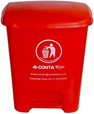 Conta 0803 CK 23 Conta Kleen Pedal Dustbin, Red - 25 L