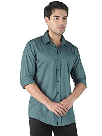 LEVIZO Men's 100% Cotton Designer Printed Full Sleeves Regular Fit Shirt