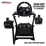 GT Omega Support de Volant pour volant Logitech G920 Racing, pédales, V2 montage de levier de vitesses - Xbox One, Fanatec Clubsport, PC - Pliable et inclinable pour la console de course
