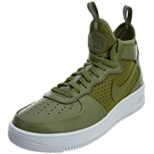 a697d49d95429 NIKE Hombres 864014-301 10 Nike Air Force 1 Ultraforce Mid Palm  Verde Blanco para