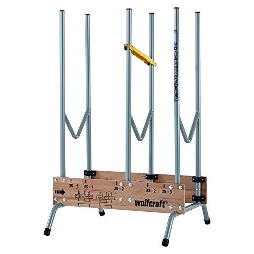 wolfcraft 1 Sägebock 5121000 - zusammenklappbar | Robuster & stabiler Holzbock zum schnellen Zuschneiden von Brennholz - inkl. Auswurfsicherung | Tragkraft: 150 kg