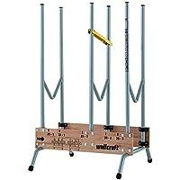wolfcraft 1 Sägebock 5121000 - zusammenklappbar, Robuster & stabiler Holzbock zum schnellen Zuschneiden von Brennholz - inkl. Auswurfsicherung, Tragkraft: 150 kg