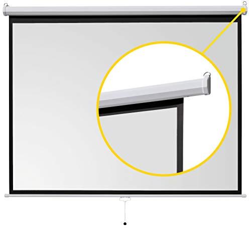 ivolum Rolloleinwand 200 x 150cm Nutzfläche | Format 4:3 | Als Heimkino-Leinwand oder Business-Leinwand einsetzbar | einfach Montage und Bedienung | Beamer-Leinwand in verschiedenen Größen erhältlich - 4