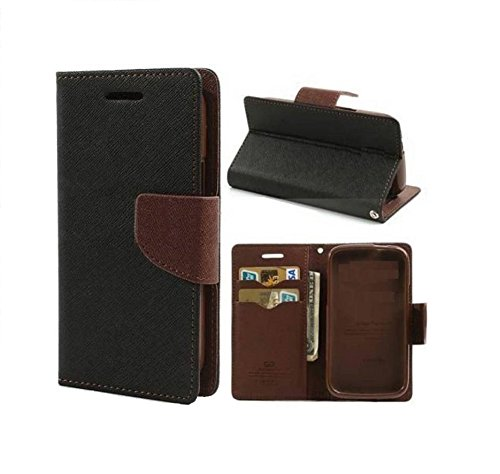 COVERNEW Mercury Flip Cover for Samsung Galaxy On7 Prime - Black::Brown