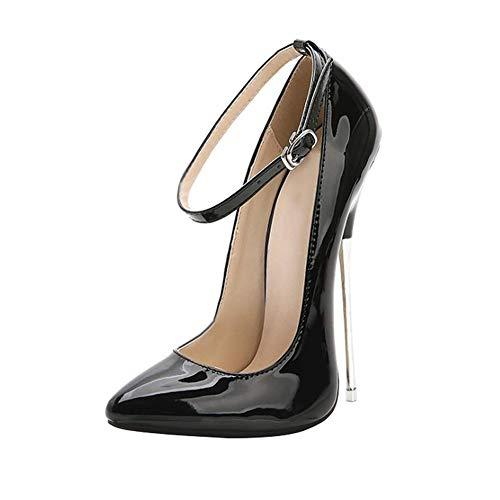ZFAFA Donna Extrem Scarpe col Tacco Alto Chiuse Davanti Scarpa Pizzo Fibbia Elegante High-Heels Scarpe da Sposa/Lavoro / Festa, 001