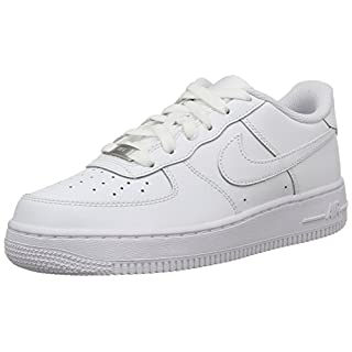 Nike Unisex-Kinder AIR Force 1 (GS) Low-Top, Weiß (117 White), 39 EU