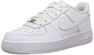 Nike Air Force 1 (Gs), Baskets Basses Garçon, Blanc (White/White-White), 35.5 EU