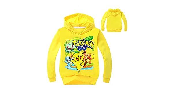 Pokemon Pikachu Jungen Mädchen Kinder T-shirt Shirt Kapuzenpullover Pulli Hoodie