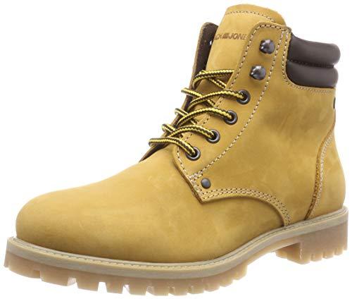 JACK & JONES Jfwstoke Nubuck Boot Honey Noos, Botas Clasicas para Hombre, Amarillo, 44 EU