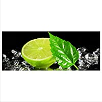 Glasbild Limette