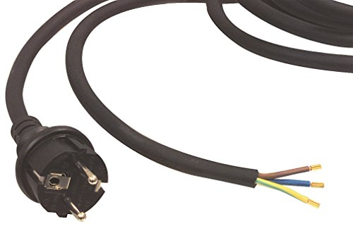 Preisvergleich Produktbild Eurosell - Profi Anschlusskabel Strom Kabel zb für Bügeleisen Retro Radios Lampen schwarz