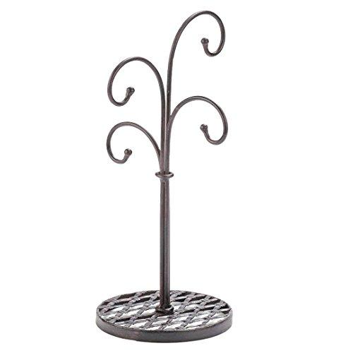 Mahagoni-halterung (gebogen Baum 4Arm Metall Küche Ständer Tassen und Becher Halterung in Mahagoni-Finish-40,6cm)