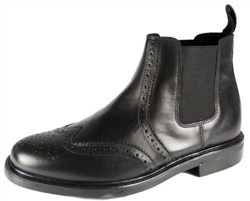 Oaktrak Pinham negro, marrón o castagnia piel brogue Oxford zapatos de trabajo para hombre, color Negro, talla 41.5