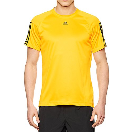 adidas Herren Base 3-Stripes T-Shirt, Solar Gold, M