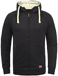 Blend Speedy Veste en Sweat Zippé Sweat-Shirt À Capuche pour Homme À Capuche Doublure Polaire avec Fermeture Éclair