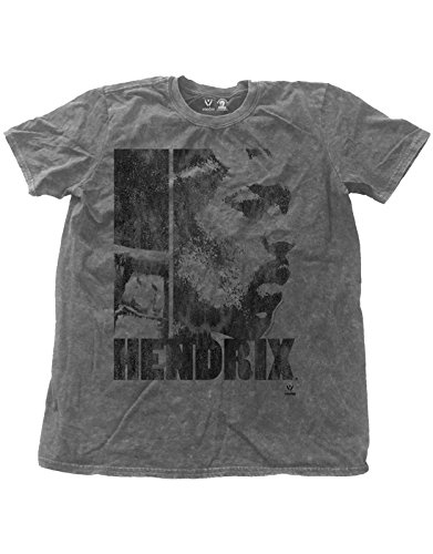 Jimi Hendrix T Shirt Let Me Live Distressed offiziell Herren Nue Charcoal Snow (Jimi Hendrix Hoodies)