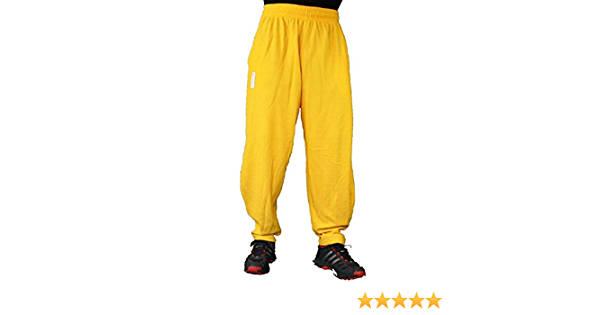 Yellow Fitness Pants with inscription Mordex BW Bodybuilding Gym Pants Sport Trousers