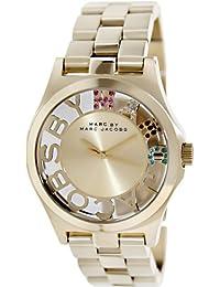 Marc Jacobs MBM3263 - Reloj con correa de piel para mujer, color dorado / gris