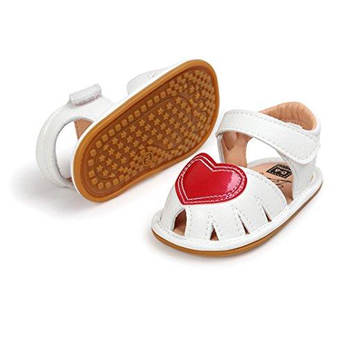 Igemy 1Paar Baby Mädchen Sandalen Casual Sneaker Anti-Rutsch Soft Sole Kleinkind Schuhe Weiß