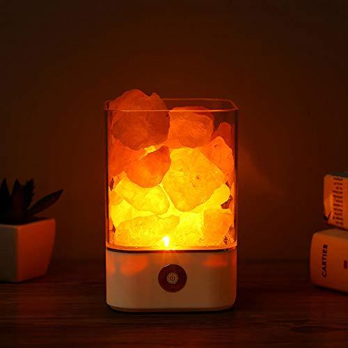 Pang Hu Natürliches Himalaya Salz Licht/Kristall USB Licht/Luftreiniger/Stimmung Schöpfer warme Tischlampe/Indoor Schlafzimmer Lava Lampe (Raw-kristalle Große)