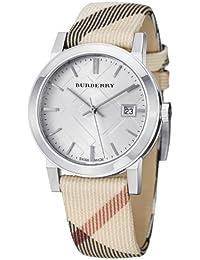BURBERRY BU9113 - Reloj , correa de cuero color marrón