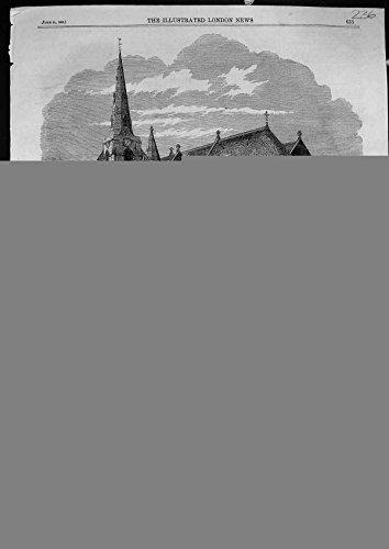 Antiker Druck von Orientalischen Bädern Westminster1862 Kirchen-Heiliges Grab-Northamptons