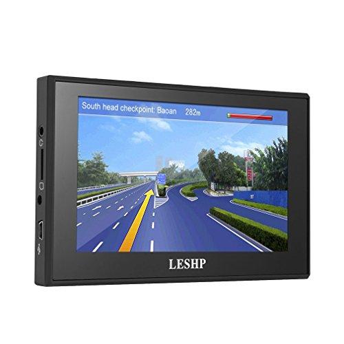 LESHP - 3D Navigatore GPS Auto per Europa Display da 5 Pollici Mappe a Vita (WinCE, 8GB)