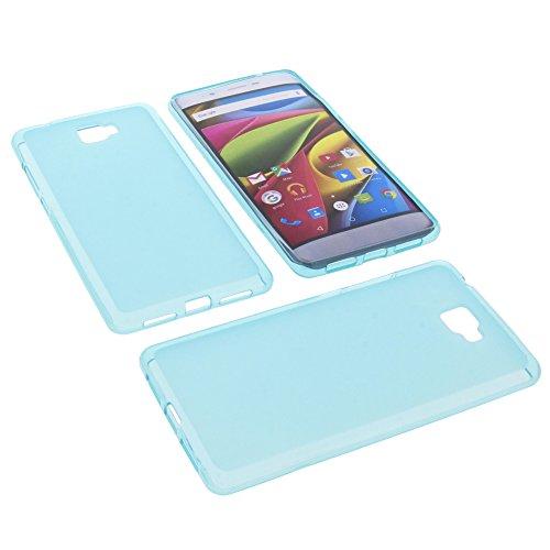 foto-kontor Tasche für Archos 55 Cobalt Plus Gummi TPU Schutz Hülle Handytasche blau