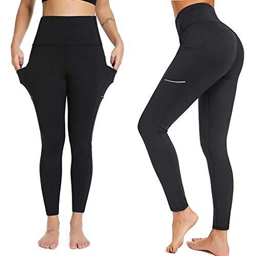 Qiuday Thermohose Leggings Damen, Frauen Sport Shorts Yoga
