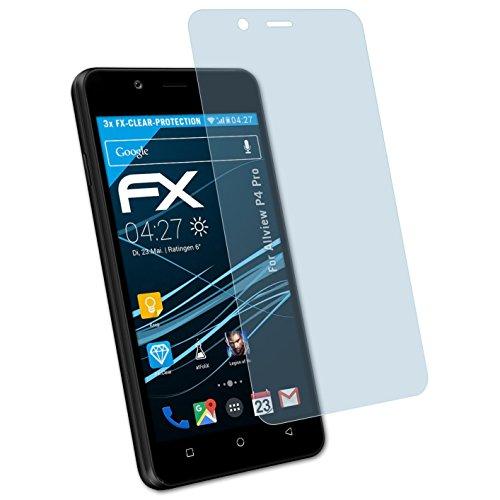 atFolix Schutzfolie kompatibel mit Allview P4 Pro Folie, ultraklare FX Displayschutzfolie (3X)