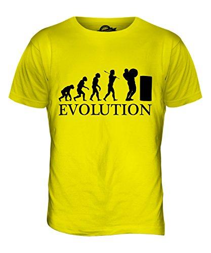 CandyMix Atlas Steine Stones Of Strength Evolution Des Menschen Herren T Shirt Zitronengelb