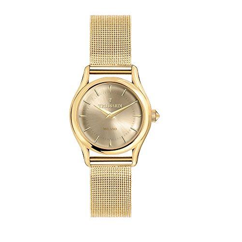 TRUSSARDI Reloj Analógico para Mujer de Cuarzo con Correa en Acero Inoxidable R2453127501