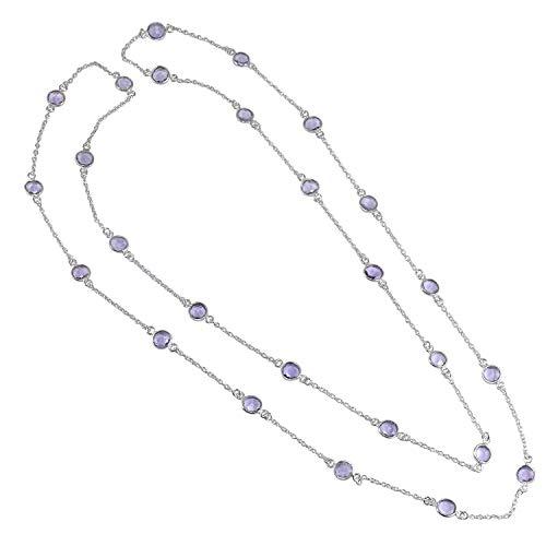 Silvestoo Halskette Indianer-Amethyst 925 Sterling Silber PG-156219