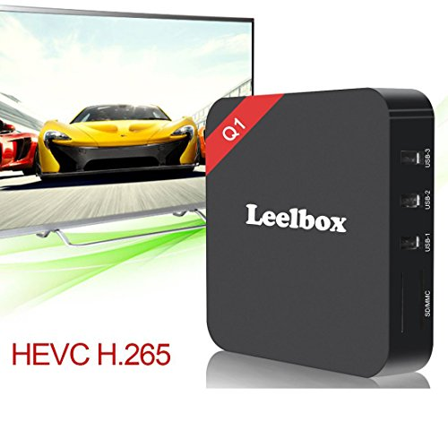 2016 Leelbox Android TV Box Neueste Modell Q1 Android TV BOX Kodi 16,1 Android 5.1 Vorinstallierte RK3229 Quad Core Miracast unterstuetzt 4K * 2K H.265 ,3D, 2.4G Wi-Fi LAN Media Player - 7