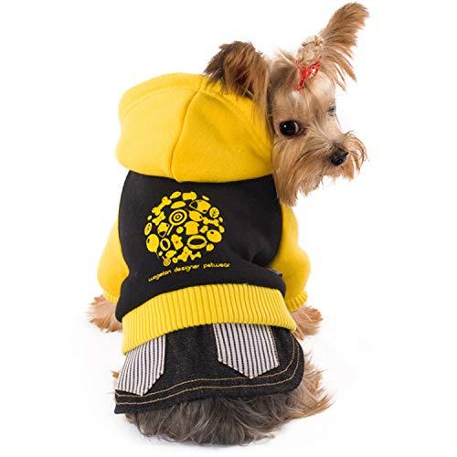 Für Kostüm Teddybär Welpen - LOVEPET Hundekleidung Katze Und Hund Herbst Und Winter Kleidung Dicker Wollrock-Pullover Teddybär Kostüm CVC-Baumwolle