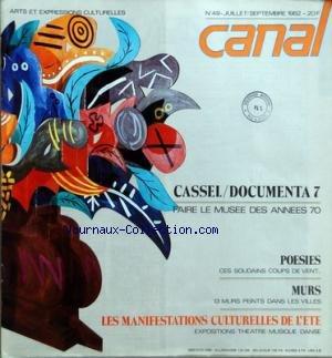 CANAL [No 49] du 01/07/1982 - CASSEL - D...