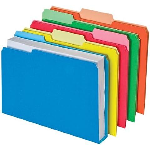 DoubleStuff File Folders, 1/3 Cut, Letter, Assorted,