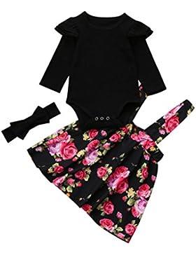 WINWINTOM Neugeborenen Kinder Baby Mädchen Strampler Tops + Floral Tutu Party Prinzessin Kleid Set