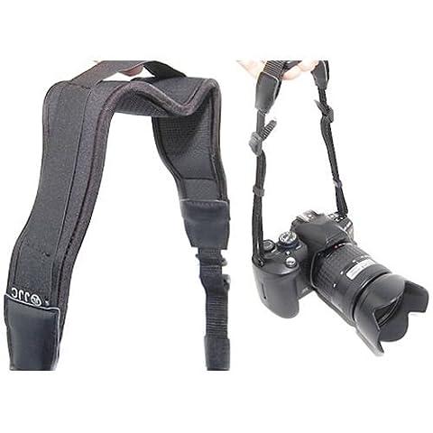 JJC NS-T1 - Top Neopren Schultergurt/ Breite Ausführung mit Schnellverschluß - z.B. für Canon EOS 10D, 20D, 30D, 40D, 50D, 60D, 300D, 350D, 400D, 450D, 500D, 550D, 600D, 650D, 1000D, 1100D